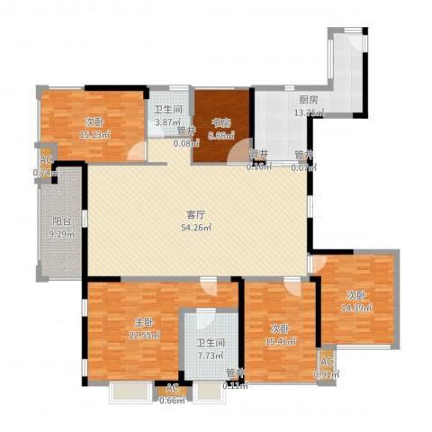 世茂石湖湾5室1厅9卫1厨210.00㎡户型图