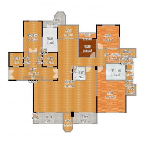 中海篁外山庄3室2厅2卫1厨248.00㎡户型图