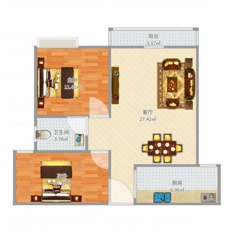 联发欣悦园1号3032室1厅1卫1厨80.00㎡户型图