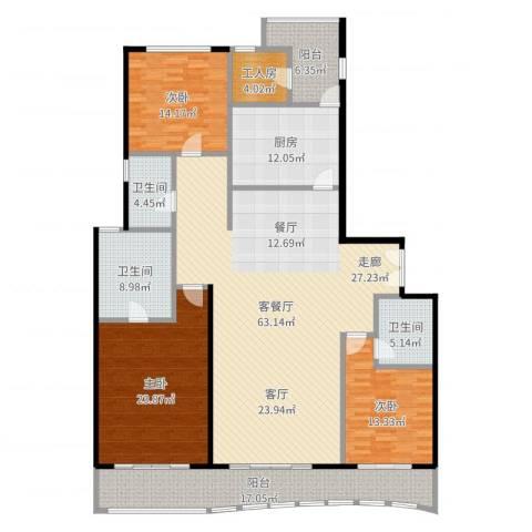 嘉天汇3室2厅3卫1厨216.00㎡户型图