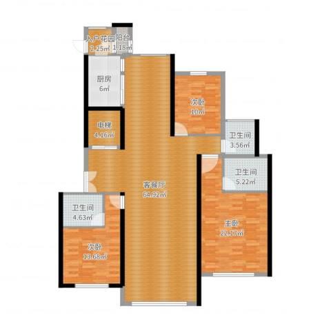 汤河铭筑3室2厅3卫1厨172.00㎡户型图