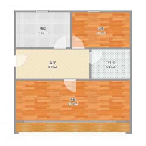 解放新村2112室1厅1卫1厨73.00㎡户型图