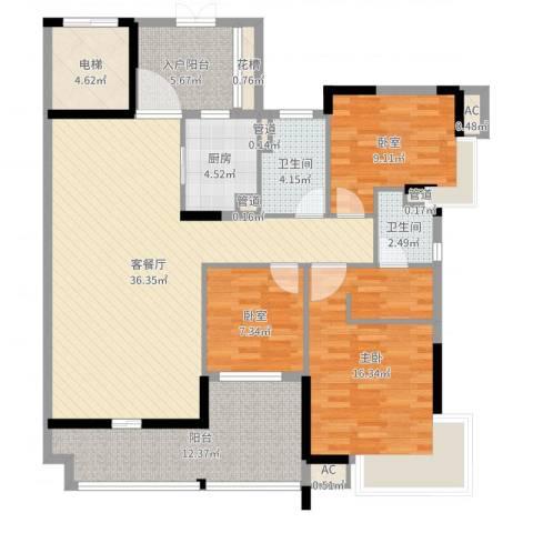 丽雅嘉园1室4厅8卫1厨131.00㎡户型图