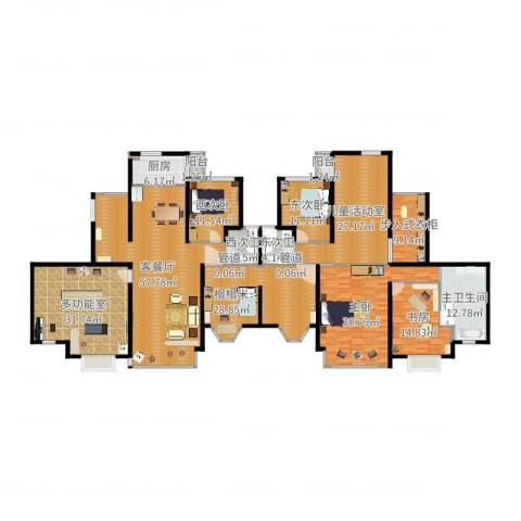 天元蓝城2室2厅3卫1厨316.00㎡户型图
