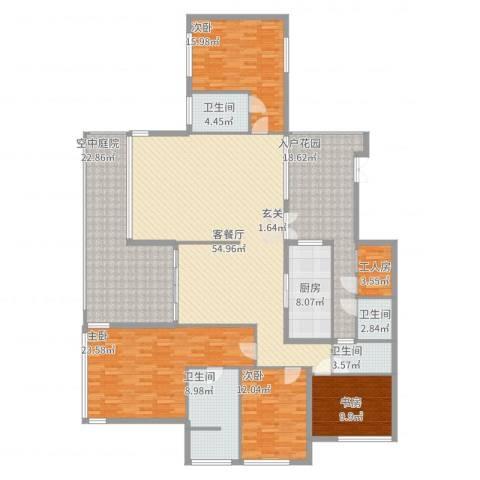观山湖1号4室2厅4卫1厨262.00㎡户型图