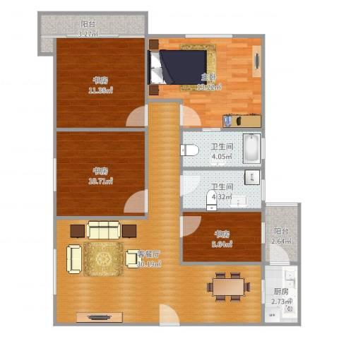 永同昌大厦4室2厅2卫1厨110.00㎡户型图