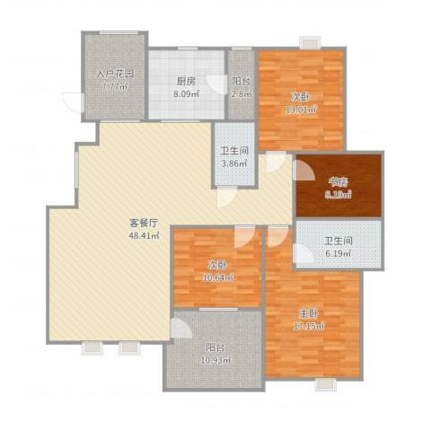 钰海山庄1524室2厅2卫1厨171.00㎡户型图