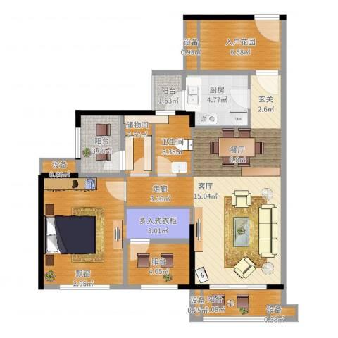 龙光海悦华庭1室2厅1卫1厨109.00㎡户型图