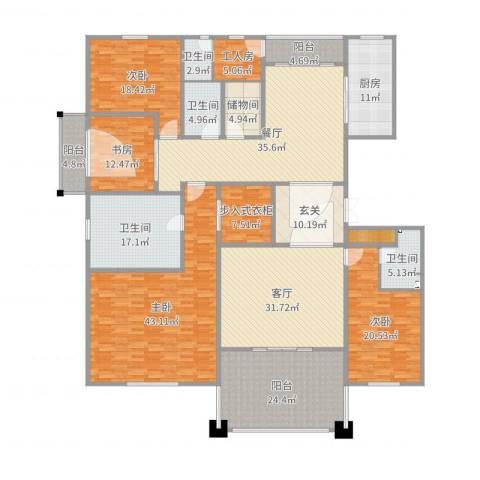德信臻园4室2厅6卫1厨333.00㎡户型图