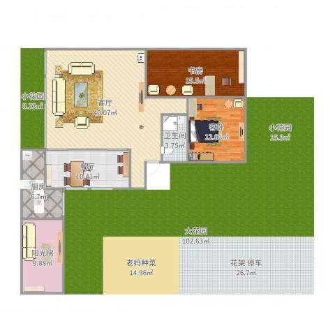大唐世家(集美)2室2厅1卫1厨98.36㎡户型图