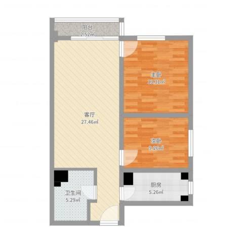 金海湾10号楼4单元23层4232室1厅1卫1厨79.00㎡户型图