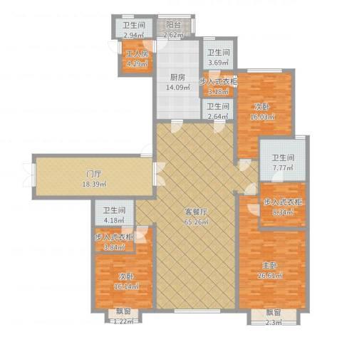 西安大明宫万达公馆3室2厅5卫1厨250.00㎡户型图