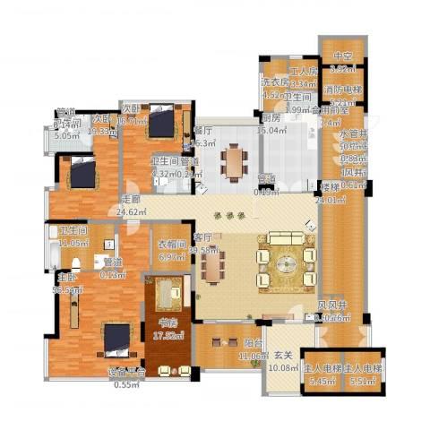 中铁·凤凰谷3室2厅4卫1厨429.00㎡户型图
