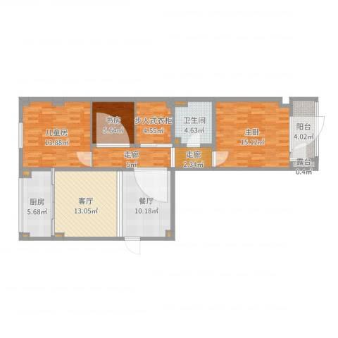 金华怡园9-2-501郑姐3室2厅1卫1厨106.00㎡户型图