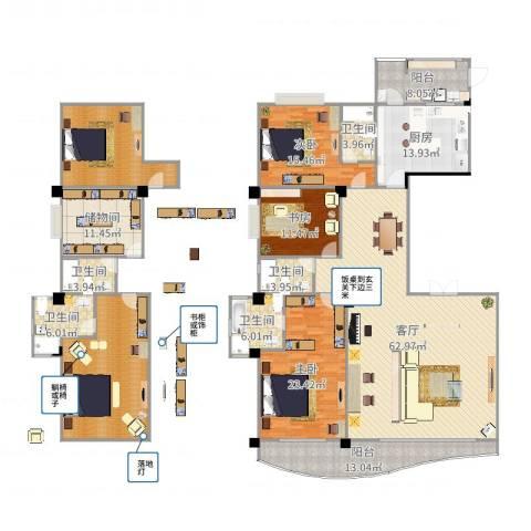 御峰臻品3室1厅5卫1厨278.00㎡户型图