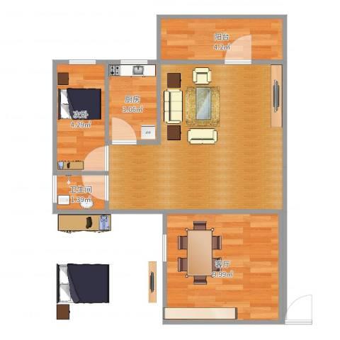 ID13490222侨诚花园冬日苑1栋1501房1室1厅1卫1厨51.00㎡户型图