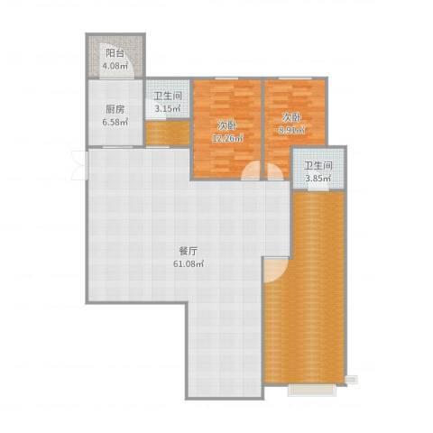 碧桂园别墅3室1厅3卫1厨158.00㎡户型图