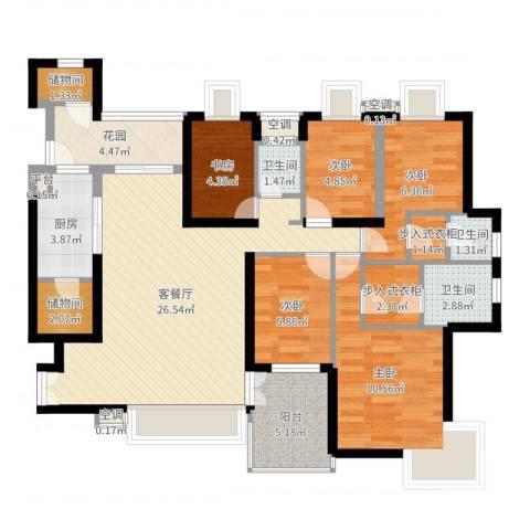 风华豪庭5室2厅3卫1厨107.00㎡户型图