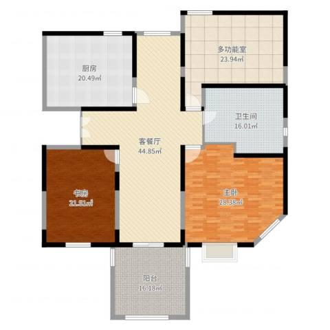 润和苑别墅2室2厅1卫1厨214.00㎡户型图