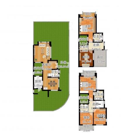 张江汤臣豪园别墅5室2厅5卫1厨407.00㎡户型图