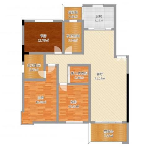 晨光绿苑3室1厅4卫1厨143.00㎡户型图