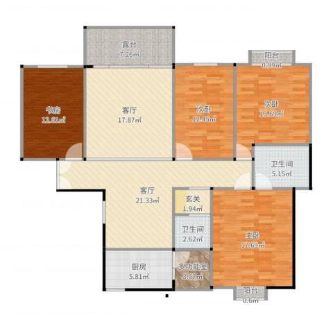 凤庆幸福里4室2厅2卫1厨154.00㎡户型图