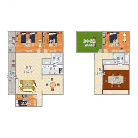 麒麟花园5室1厅2卫1厨323.00㎡户型图