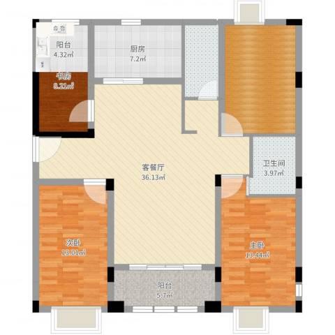 南太武高尔夫澎湖湾3室2厅1卫1厨129.00㎡户型图