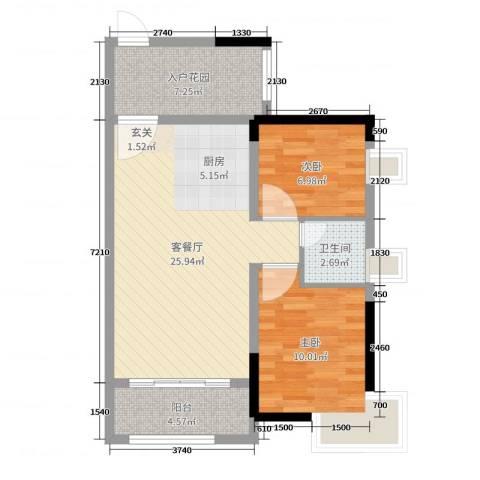 优越香格里2室2厅1卫0厨72.00㎡户型图