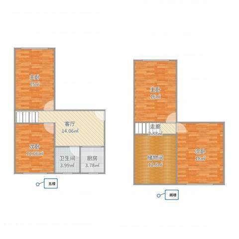 大连西路201弄小区4室1厅1卫1厨123.00㎡户型图