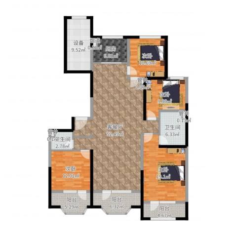 保利海德公园4室2厅2卫1厨182.00㎡户型图