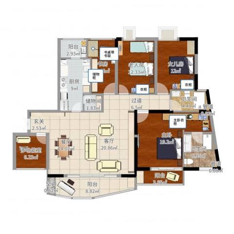 嘉年华国际社区4室1厅4卫2厨174.00㎡户型图
