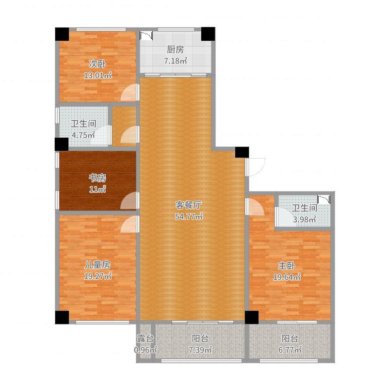 瑞明国际178方四室两厅俩卫