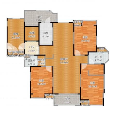 瀛通金鳌山公寓3室2厅2卫1厨176.00㎡户型图