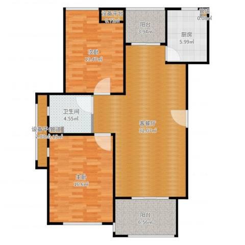 瀛通金鳌山公寓2室2厅1卫1厨108.00㎡户型图