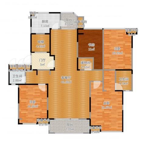 瀛通金鳌山公寓4室2厅2卫1厨189.00㎡户型图