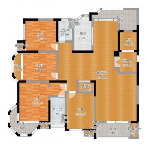 瀛通金鳌山公寓4室2厅2卫1厨216.00㎡户型图