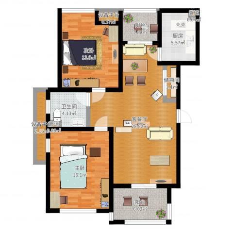 瀛通金鳌山公寓2室2厅1卫1厨102.00㎡户型图