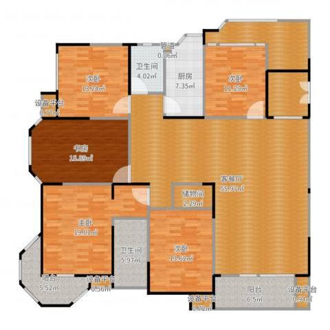 瀛通金鳌山公寓5室2厅2卫1厨221.00㎡户型图