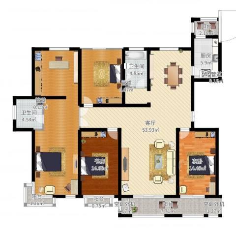 建投・御河新城3室1厅7卫1厨204.00㎡户型图
