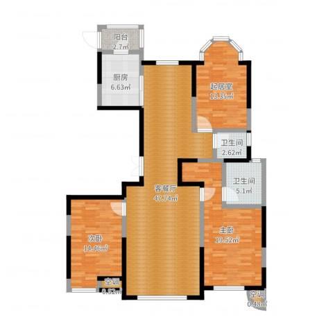 建邦华庭2室2厅4卫1厨141.00㎡户型图