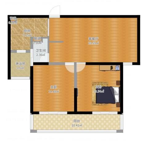 合生财富海景公馆2室2厅2卫3厨104.00㎡户型图