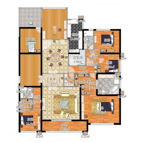 九龙仓雅戈尔铂翠湾4室2厅9卫1厨338.00㎡户型图