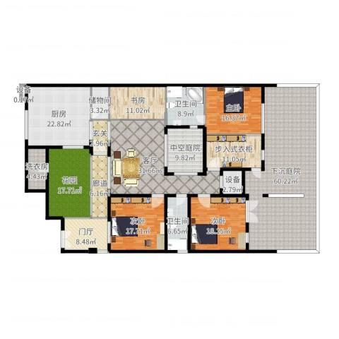 无庶4室1厅2卫1厨325.00㎡户型图