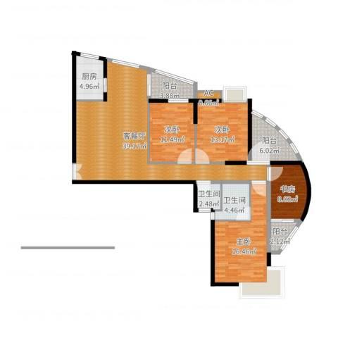 金辰・星河湾4室2厅3卫1厨141.00㎡户型图