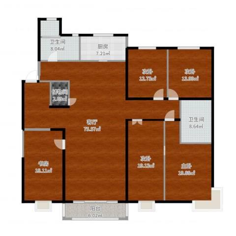 中信府・世家5室1厅2卫1厨240.00㎡户型图