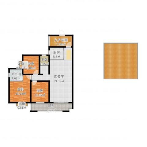 江尚天地4室2厅1卫1厨180.00㎡户型图