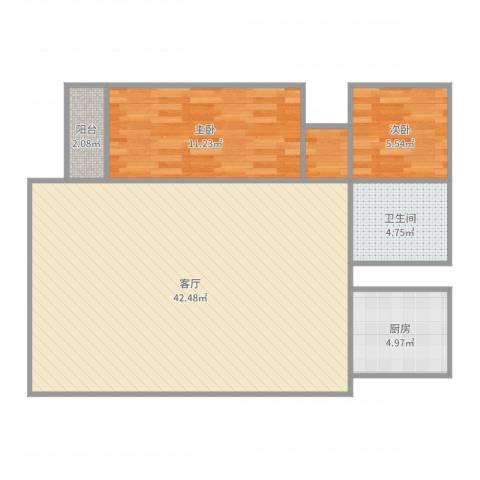 文缘村3号2022室1厅1卫1厨91.00㎡户型图