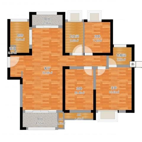 绿地玫瑰城3室1厅1卫1厨111.00㎡户型图
