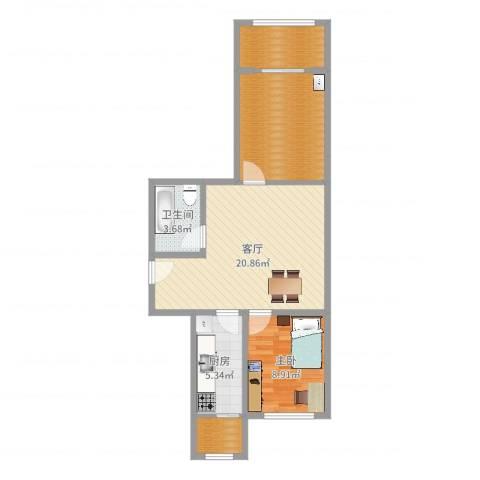 和义西里小区1室1厅1卫1厨70.00㎡户型图